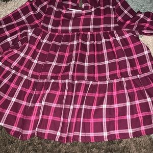 Burgundy plaid shirt